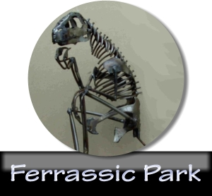 Ferrassic Park Steel Dinosaurs and Steel Sculptures