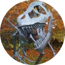 Steel dinosaur sculptures from Andy Hill