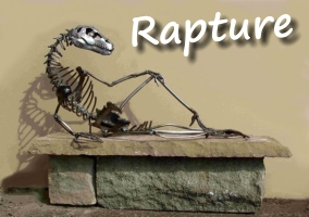 Rapture - steel dinosaur art by Andy Hill